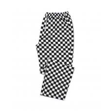 B2567 CHEFS TROUSERS CHECKED PRINT XL