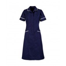 D308T NAVY SOFT BRUSHED DRESS TALL 108cm